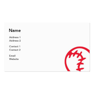 Sports - Baseball - Business Pack Of Standard Business Cards