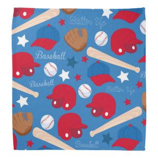 SPORTS Baseball Glove Bat Fun Colorful Pattern Bandanna