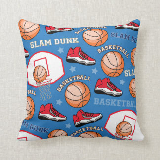 SPORTS Basketball Fun Athlete Colorful Pattern Pillow