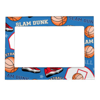 SPORTS Basketball Fun Athlete Colorful Pattern Magnetic Photo Frames