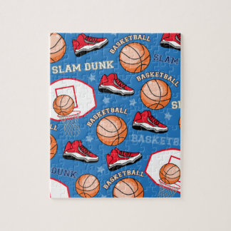 SPORTS Basketball Fun Athlete Colorful Pattern Jigsaw Puzzles
