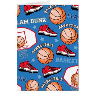 SPORTS Basketball Slam Dunk Fun Athlete Pattern Greeting Card