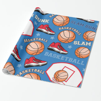 SPORTS Basketball Slam Dunk Fun Athlete Pattern Wrapping Paper