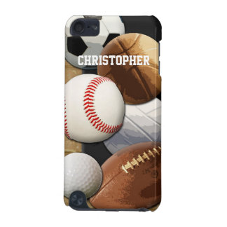 Sports Basketball/Soccer/Football Personalized iPod Touch 5G Case