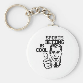 SPORTS BETTING IS COOL BASIC ROUND BUTTON KEY RING