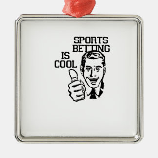 Sports Betting is Cool!!  Degenerate Products Christmas Ornament