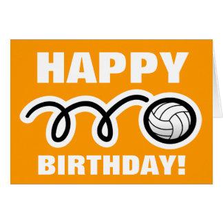 Sports Birthday greeting card | volleyball design