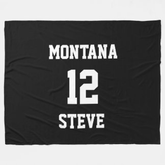 Sports Black White Colors Personalized Lrg Blanket
