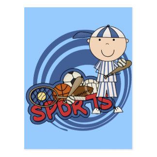 Sports Boy - Baseball Tshirts and Gifts Postcard