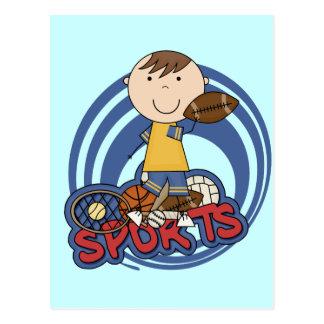 Sports Boy Football Tshirts and Gifts Post Card