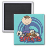 Sports Boy Soccer T-shirts and Gifts Square Magnet