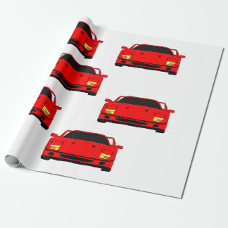 """Sports car"" custom wrapping paper"