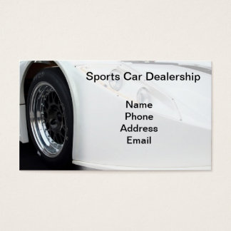 Sports Car Dealership Business Card