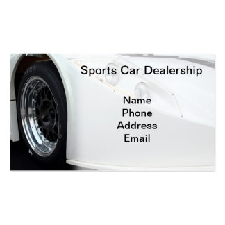Sports Car Dealership Pack Of Standard Business Cards