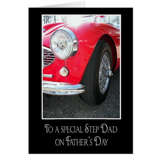Sports Car for Step Dad Card