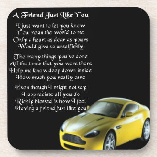 Sports Car - Friend Poem Coaster