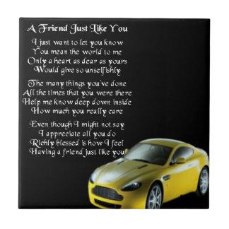 Sports Car friend Poem Tile