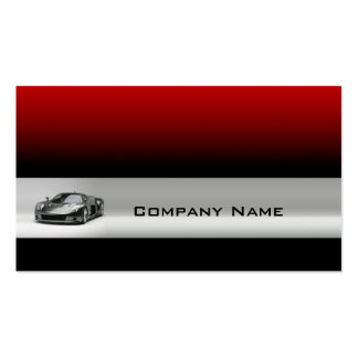 Sports Car In A Grey Line & Red Background Card Pack Of Standard Business Cards