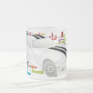Sports Car Frosted Glass Mug