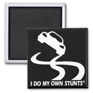 Sports Car My Own Stunts Square Magnet