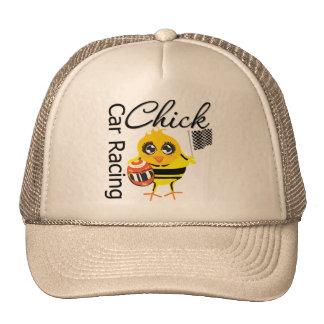 Sports Car Racing Chick Mesh Hats