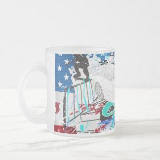 Sports Car - USA Frosted Glass Mug