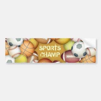 Sports Champ Bumper Sticker