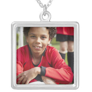 Sports, Children, Football 2 Silver Plated Necklace