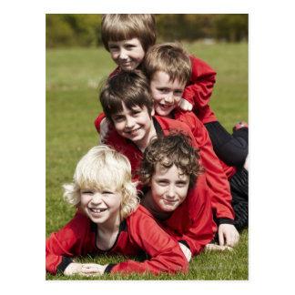 Sports, Children, Football Postcard