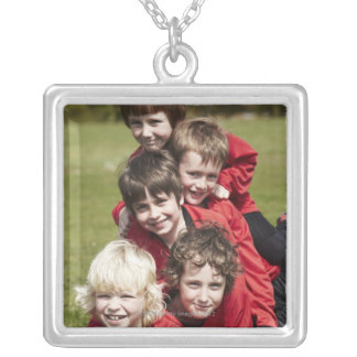 Sports, Children, Football Silver Plated Necklace