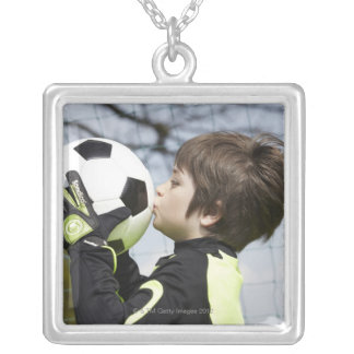 Sports, Children,Football Silver Plated Necklace
