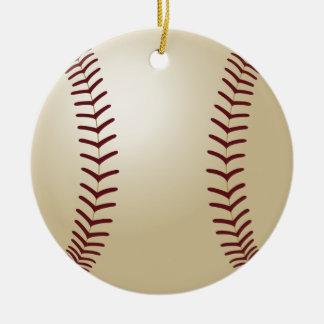 Sports Christmas Round Ceramic Decoration