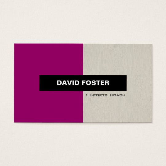 Sports Coach - Simple Elegant Stylish Business Card