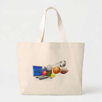 Sports computer app concept bags