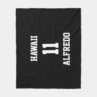 Sports Customized Black White Team Colors Fleece Blanket