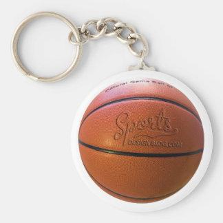Sports Design Blog basketball keyring Basic Round Button Key Ring