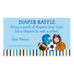 Sports Diaper Raffle Tickets Business Card Templates