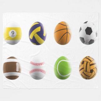 sports easter eggs blanket