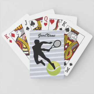 Sports Enthusiast Tennis, personalize with name Playing Cards