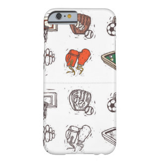 Sports equipment displayed against white barely there iPhone 6 case