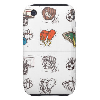 Sports equipment displayed against white iPhone 3 tough covers