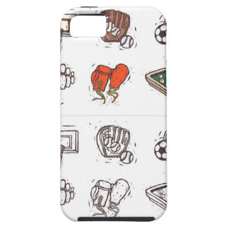 Sports equipment displayed against white tough iPhone 5 case