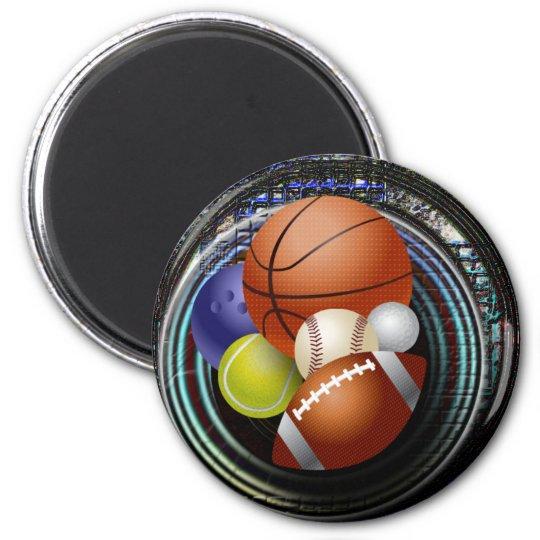 Sports Fan 6 Cm Round Magnet