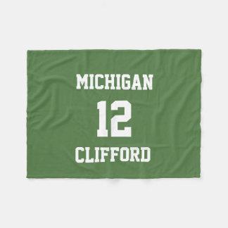 Sports Fan Customized Fern Green Fleece Blanket