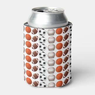 Sports Fan Full Color Popular Sports Balls Can Cooler