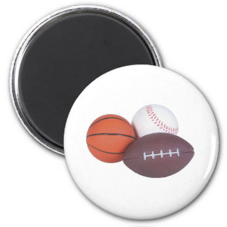 Sports Fan Gifts Basketball Baseball Football 6 Cm Round Magnet