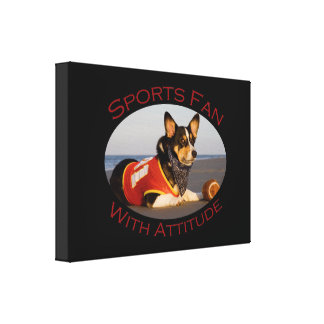 Sports Fan with Attitude Gallery Wrap Canvas