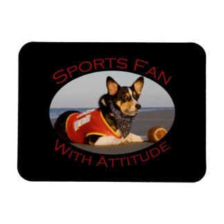 Sports Fan with Attitude Rectangular Photo Magnet