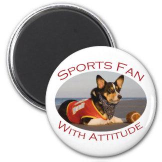 Sports Fan with Attitude Fridge Magnet