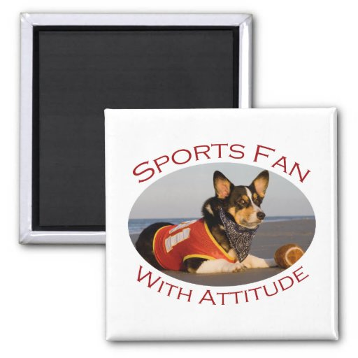 Sports Fan with Attitude Magnet